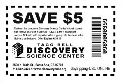 Expired Ontario Science Centre Canada Coupons