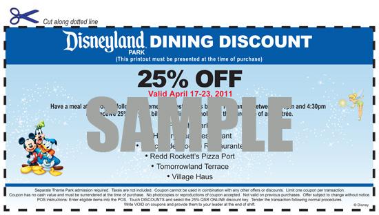 Disneyland tickets discount coupon