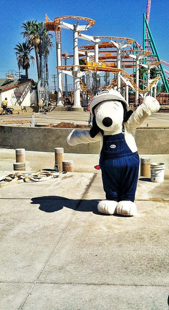 Snoopy is hard at work!