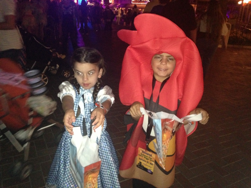 The kiddos ready to trick-or-treat their hearts out!