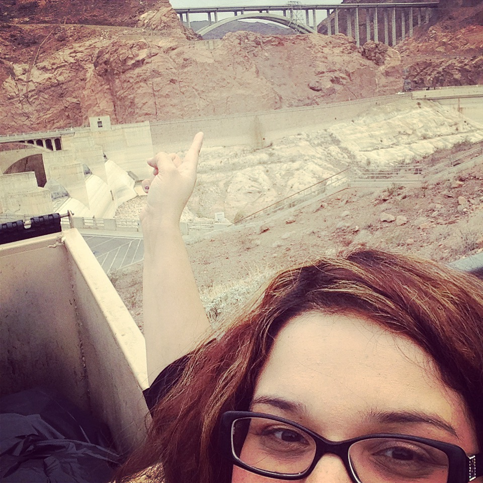 Overlooking Hoover Dam was definitely a little nerve wracking for this acrophobic.