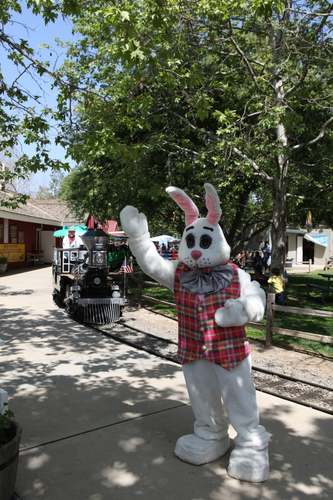 The Easter Bunny and Train