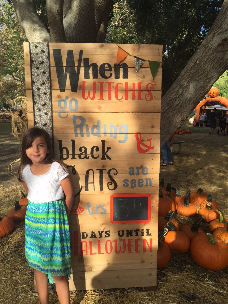 It's my daughter's 9th visit to the pumpkin patch! She started as a baby!