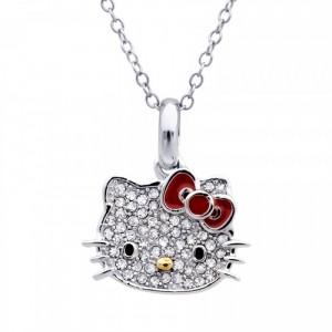 Silver Hello Kitty Pendant